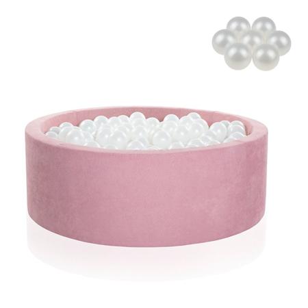 Slika za Kidkii® Okrugli Rose Bazen s kuglicama Pearl 90x40