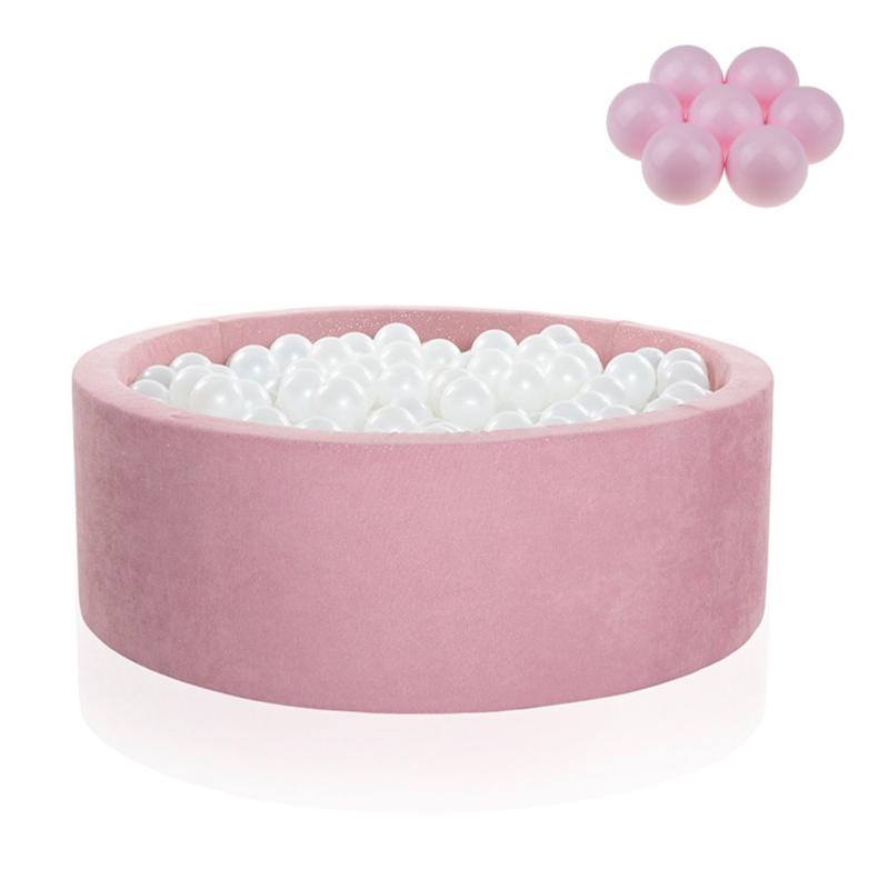 Slika za Kidkii® Okrugli Rose Bazen s kuglicama Pink 90x40