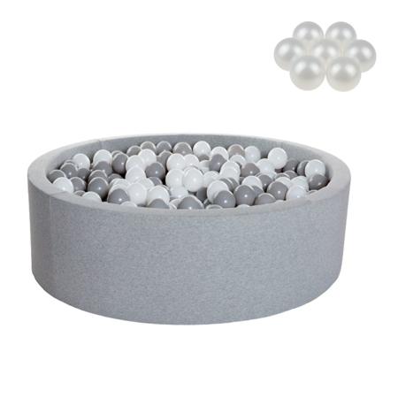 Slika za Kidkii® Okrugli Grey Bazen s lopticama Pearl 90x40
