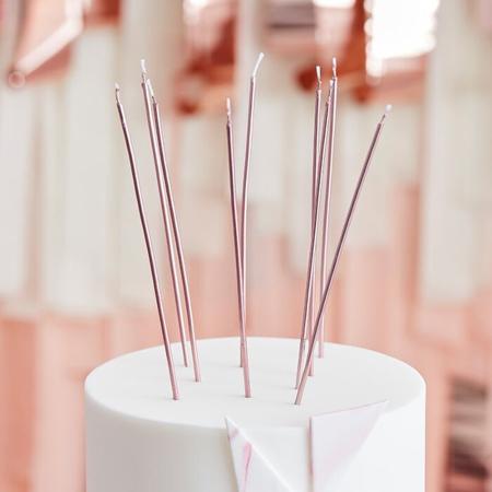 Slika za Ginger Ray® Visoke svjećice Rose Gold 12 komada
