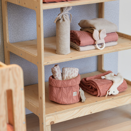 Slika za Jollein® Košara za pohranjivanje stvarčica Spring Knit Rosewood
