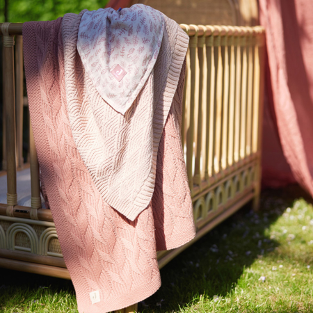 Slika za Jollein® Pletena dekica Spring Knit Rosewood 100x75