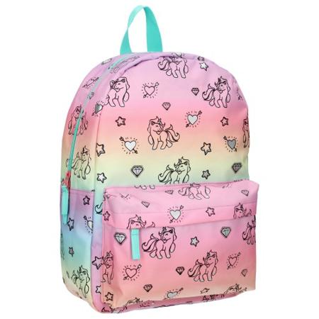 Slika za Kidzroom® Dječji ruksak Milky Kiss Rainbows and Unicorns Blue Pink (M)