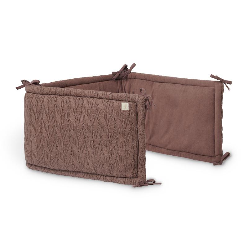 Slika za Jollein® Porub za krevetić Spring Knit 180x35 Chestnut