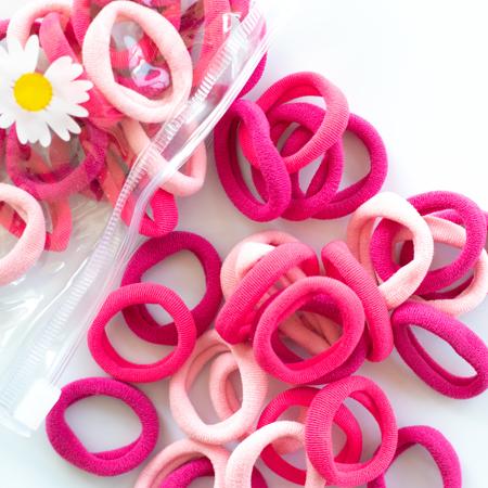 Slika za Elastike za kosu Pink Mix Ø2.5cm 50 kom