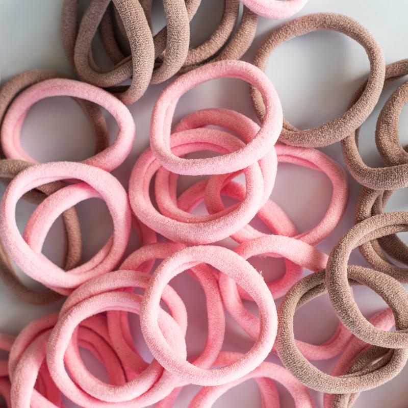 Slika za Elastike za kosu Pink Mix Ø3,5cm 50 kom