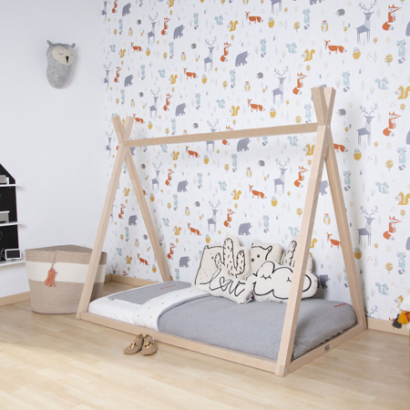 Slika za Childhome® Okvir za postelju Tipi 140x70 Natur