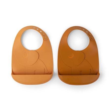 Slika za Done by Deer® Komplet dva slinčka Peekaboo Mustard