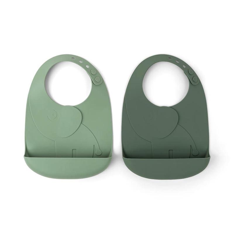 Slika za Done by Deer® Komplet dva slinčka Peekaboo Green