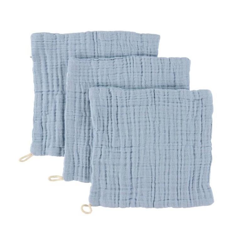 Slika za  Sebra® Komplet 3 krpice za umivanje Powder Blue 20x20
