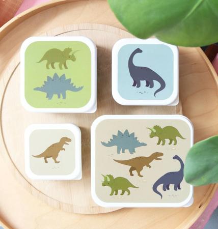 Slika za A Little Lovely Company® Kutijice za užinu i grickalice Dinosaurus