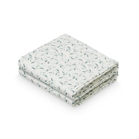 CamCam® Komplet tetra pelena GOTS Green Leaves 70 x 70