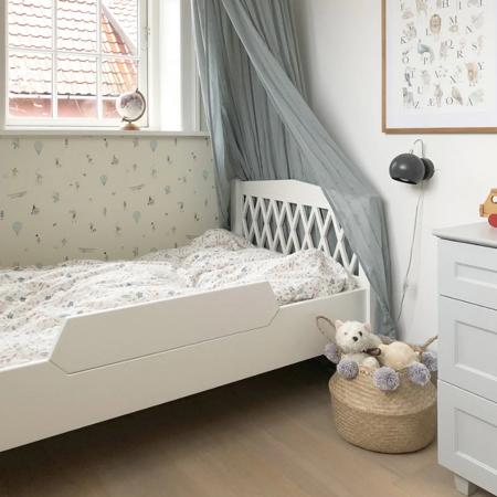 CamCam® Ogradica za krevetić Harlequin Junior White