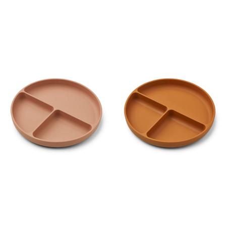 Slika za Liewood® Komplet dijeljenih silikonskih tanjurića Harvey Dark Rose/Mustard Mix