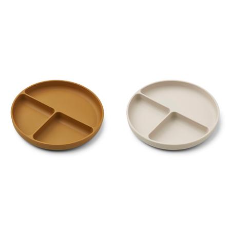 Slika za Liewood® Komplet dijeljenih silikonskih tanjurića Harvey Golden Caramel/Sandy Mix