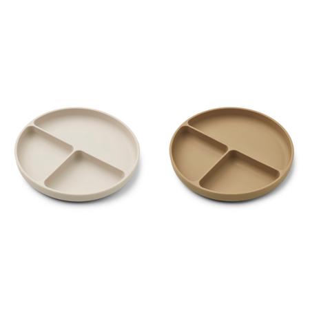 Slika za Liewood® Komplet dijeljenih silikonskih tanjurića Harvey Sandy/Oat Mix