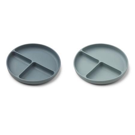 Slika za Liewood® Komplet dijeljenih silikonskih tanjurića Harvey Whale Blue Mix