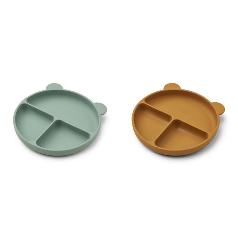 Slika za Liewood® Komplet dijeljenih silikonskih tanjurića Merrick Peppermint/Golden Caramel Mix
