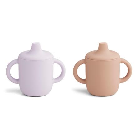 Slika za Liewood® Čašica za učenje pijenja od silikona Neil Light Lavender Rose Mix 2 kos