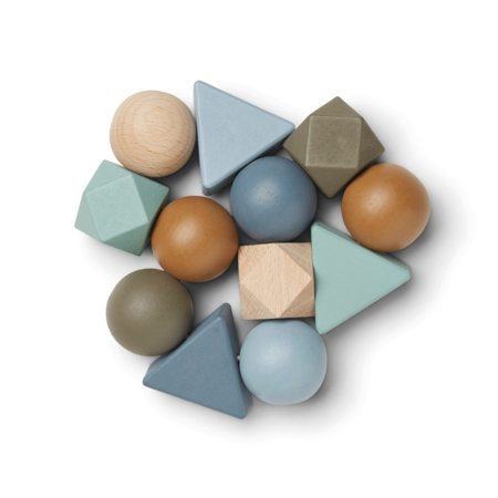 Slika za Liewood® Drvena didaktička igračka Anna Whale Blue Multi Mix