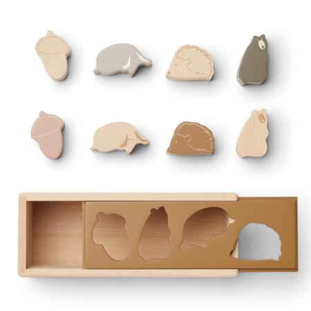 Slika za Liewood® Drvena kutija Midas Puzzle Box Friendship Golden Caramel Multi Mix