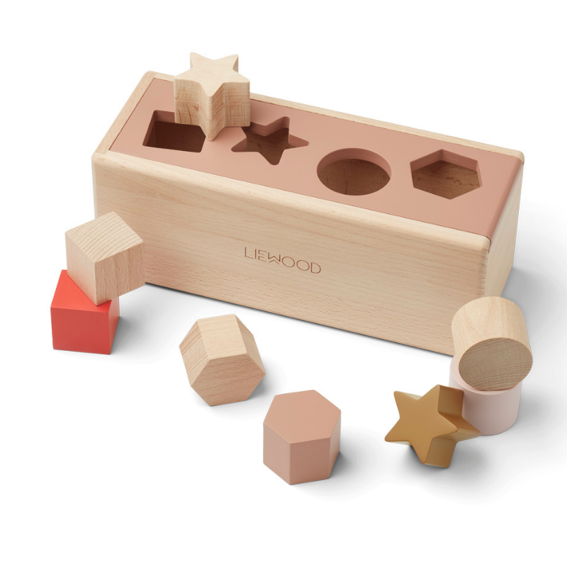 Slika za Liewood® Drvena kutija Midas Puzzle Box Geometric Tuscany Rose Multi Mix