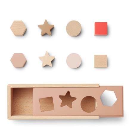 Liewood® Drvena kutija Midas Puzzle Box Geometric Tuscany Rose Multi Mix