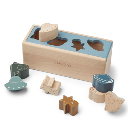 Slika za Liewood® Drvena kutija Midas Puzzle Box Space Blue Fog Multi Mix