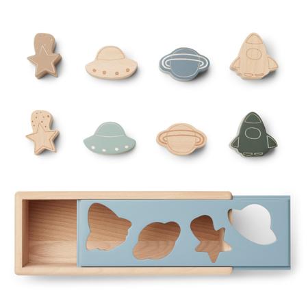 Liewood® Drvena kutija Midas Puzzle Box Space Blue Fog Multi Mix