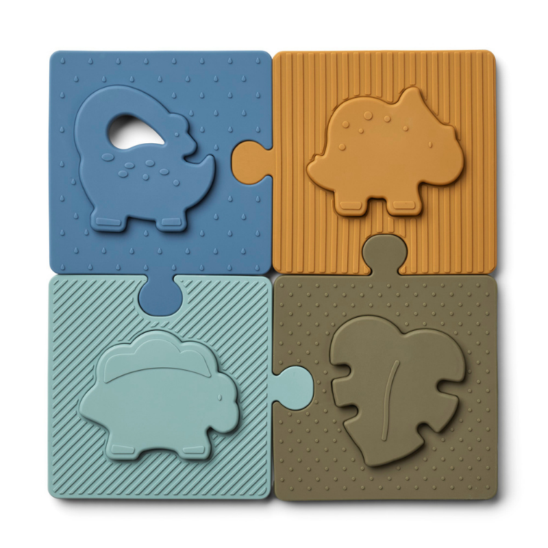 Slika za Liewood® Silikonske puzzle Bodil Dino Blue Multi Mix
