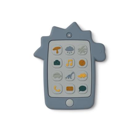 Slika za Liewood® Didaktička igračka od silikona Telefon Dino Blue Wave