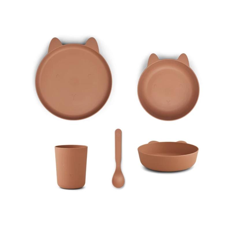 Slika za Liewood® Set za jelo od silikona Paul Rabbit Tuscany Rose