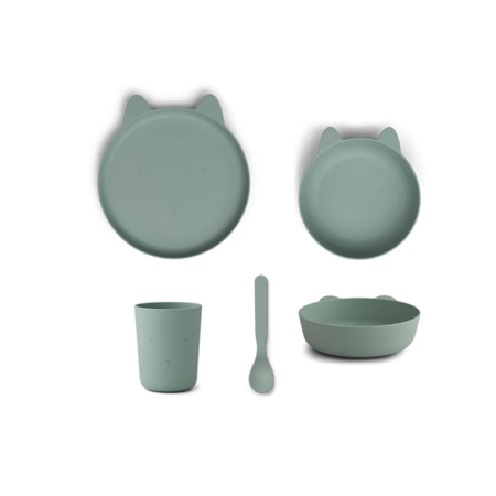 Slika za Liewood® Set za jelo od silikona Paul Rabbit Peppermint