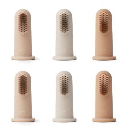 Liewood® Zubne četkice za prst 6 komada Rose Multi Mix