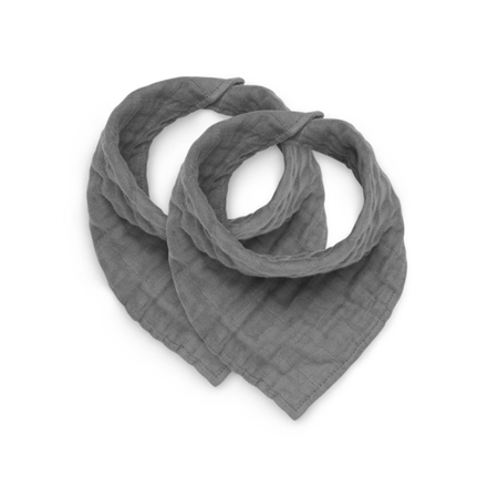 Slika za Jollein® Pamućni podbradnjak Storm Grey 2 kosa