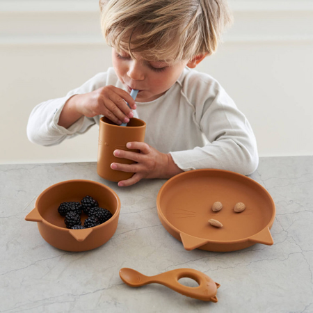Slika za Liewood® Set za jelo od silikona Cyrus Junior Rabbit Whale Blue