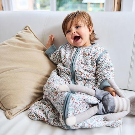 Slika za Jollein® Dječja vreća za spavanje s uklonljivim rukavima 110cm Bloom TOG 3.5
