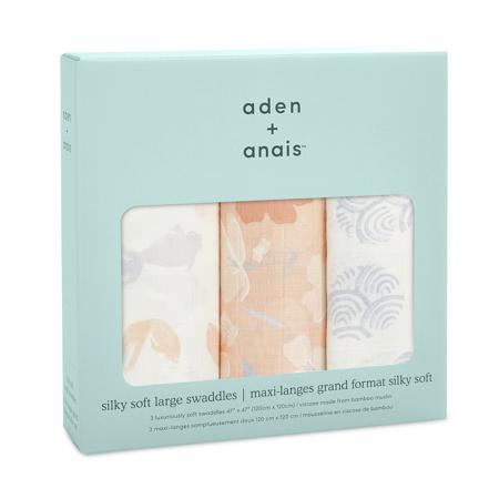 Aden+Anais® Komplet 3 povijalnih pleničk Koi Pond 120x120
