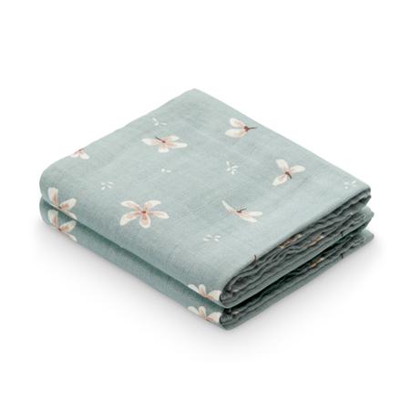 Slika za CamCam® Komplet tetra pelena GOTS Windflower Blue