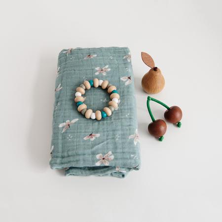 CamCam® Komplet tetra pelena GOTS Windflower Blue
